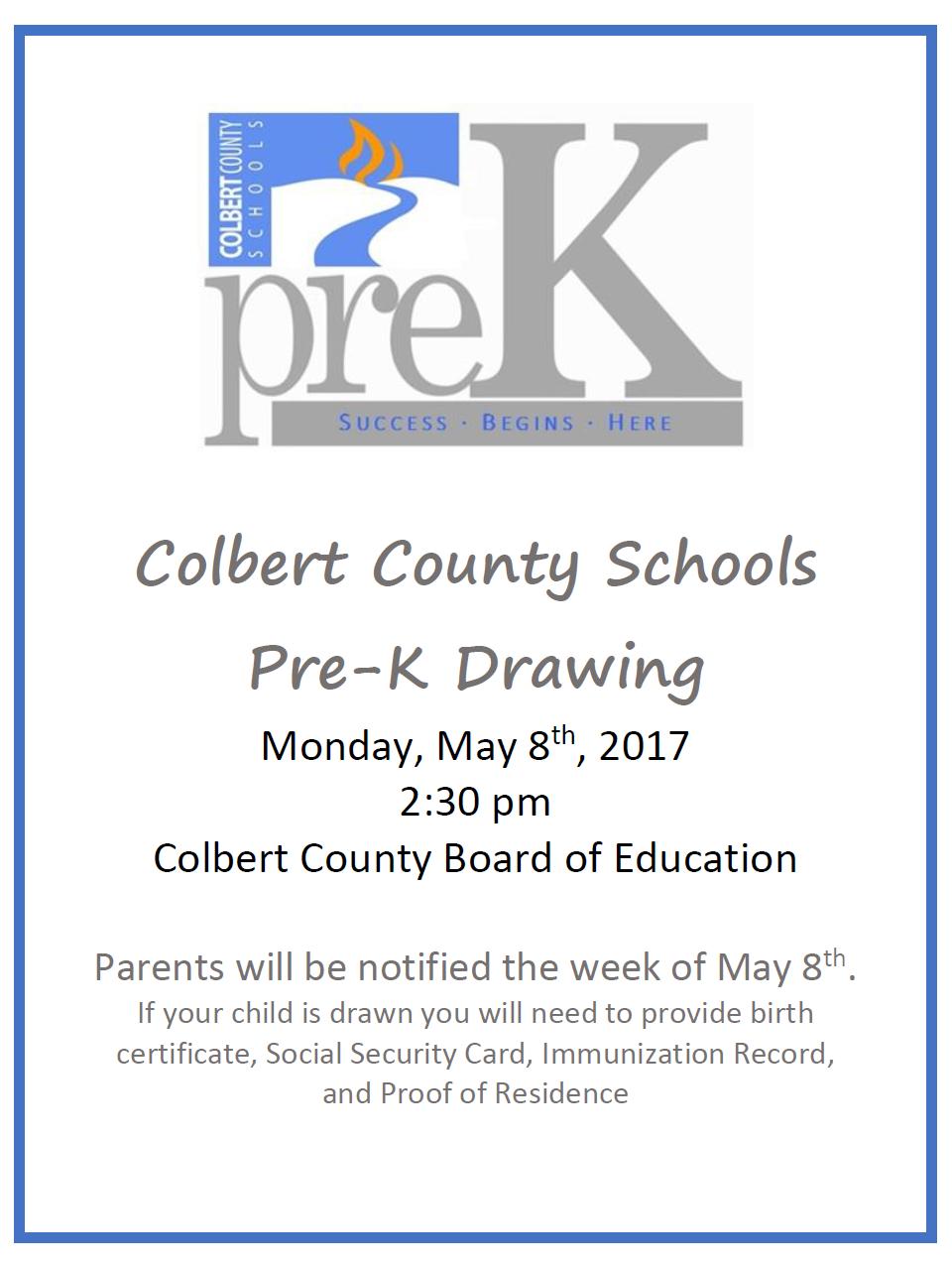 Pre-K Drawing 2017