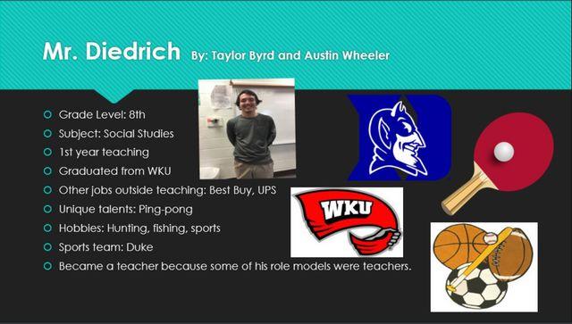 Teacher Spotlight - Mr. Diedrich