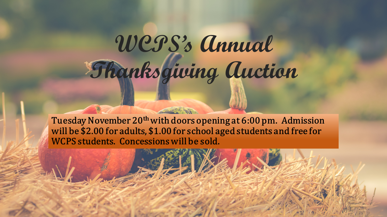 Thanksgiving Auction