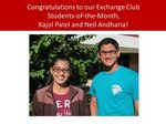 Image for Exchange Club Students of the Month for November 2014