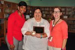 Mrs. Crittenden with Mrs. Temples: Principal and Mrs. Knighton: Assistant Principal