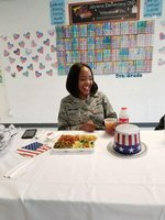 Ms. Ward Enjoys Our Veterans Day Lunch