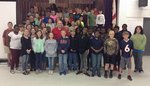 Spann with 6th graders