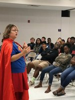 Wonder Woman speaks to Gear Up students