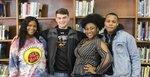 Senior Class Officers - Kaylyn Williamson, Davis Fowlkes, Shamyia Inge, & Immanuel Martin