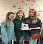 Members of the class pictured are Ella Arnold, Sarah Cook, and Annslee Rooks.