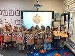 Pictured are Southland Academy K4 students in Mrs. Rooks` class are happy to wear their turkey costumes.