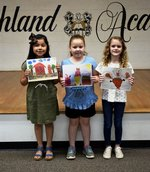 Pictured are Sadie Lopez-Carranza, Kenzie Stanfield, and Reese Fennessy.