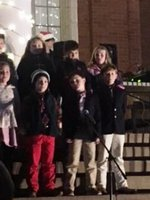 Pictured are some of the Southland 3rd Graders as they participate in the Canes Community Christmas Program