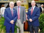 Pictured are Veteran Dale Davis, Veteran Bill McGowan, Southland Academy Headmaster, Ty Kinslow.