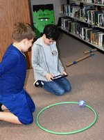 Pictured: Second graders, Haddon Collins and Hudson Goodin, are programming a sphero: let the fun begin!