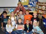 Pictured with Mrs. Peggy Roquemore is her class.