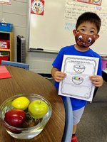 outhland Academy first grader, Willy Lee, feels good about his predictions.