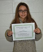 Pictured is District Level Winner Cadence Dockery.