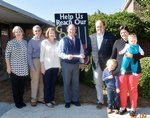Pictured are Melanie Mathis, Director of Development; Mike and Laurene Guthas, grandparents of K-3 student, Henry Hart; Ty Kinslow, Headmaster; Henry`s parents, Hank and Kimberly Guthas Hart, Southland Class of 2000; and future Southland Raider, Abby Hart.