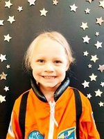 Picture: Southland Academy K3 student, Adley Coombs, proudly wears her astronaut uniform. Adley is the daughter of Aaron and Signey Coombs.