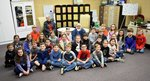 Pictured are Mr. and Mrs. Pinkard talking to Southland Academy second graders.