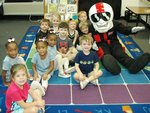 Pictured: Southland Academy K3 students love South Georgia Technical College Mascot, ACE!