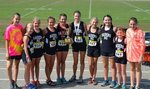 Southland Academy's JV Girls' Cross Country State Champions pictured are Tayler Bennett, Ila Johnson, Gracie Burrell, Ella Arnold, Jadie Burrell, Elizabeth Law, Taylor Ragsdale, Taylor Humphrey, McGraw Minor, and Reece Bell.  Not pictured are Julia Claire Hubbard and Mary Beth Easterlin.