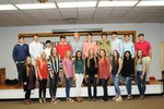 Pictured are Katie Carver, Kara Hubbard, Macy Williams, Mary Catherine Dean, Deepa Patel, Sydney Payne, Morgan Deriso, Scout Davis, Priyall Patel, Bentlee Roberson, Zac Faircloth, Parker Weldon, Alec Tan, Bradley Kitchens, Chandler Jones, Owen Hufstetler, Gabe Roland, Chandler Studdard, George Wall, and Ben Cook.  Not pictured is Ross Minick.
