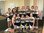 2018-2019 Southland Academy Award Winning Junior Varsity Cheerleaders pictured are (front) (7th graders) Camie Cochran, Kylee Ann Crawford, Mia Mixon, Julia Clare Hubbard, Sydney Joiner; (back) (8th graders) Tate Young, Lily Haugabook, Ella Arnold, Anna Grace Horne, Eva Grace Studdard, Lainey Collier, Scarlett Carey, and Taylor Ragsdale.