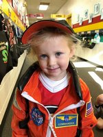 Southland Academy K3 student, Harper Greene is proud to be an astronaut!
