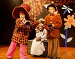 """Pictured in the """"tea party"""" scene are (left to right) Asa Baldwin as the eccentric Mad Hatter, Matthew Wall as the quiet Dormouse and Slade Griffin as the March Hare."""