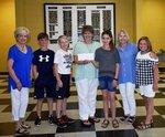 Pictured are Mrs. Billie Gatewood, Allen Styck, Evan Fender, Mrs. Kristy Swinson, Reese Graft, Mrs. Jane Arnold, Sydnee Kobs.