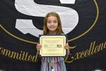 Pictured is Third Grader Sophia Leverett as the Third Place Winner in her age group.