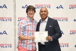 Gabe Roland with Hines Ward