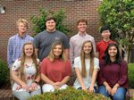 Pictured are the recipients for the Pope Scholarship Essay winners:  Standing – Freddie Updike, Ragan Norman, George Wall, Alec Tan; Seated – Katie Carver, Anslee Barnes, Sydney Payne, Priyal Patel.
