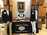 Pictured are Southland Academy seniors George Wall and Deepa Patel.