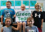 Pictured are some Green Team members.  They are Hudson Goodin, Caitlin Kidd, Matthew Owens, Kynslee Collins and Clay Hicks.