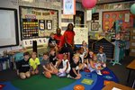 SGTC student athletes read to Southland Academy K4 students in Mrs. Rena Clayton`s room.