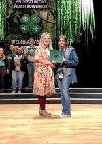 Pictured are Melinda  Miller, Program Development Coordinator, 4-H Youth Southwest District and Shazia Alam.
