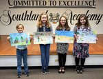 (Pictured are  District Winners from Southland's 4th grade Understanding Wildfire Prevention project.)