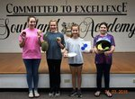 Pictured are Reece Bell, Gracie Burrell, Avery Ledger, and Adalyn Rooks.