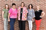Pictured are Amy Leverett, Sheila Kirkland, Heather Yeiser, Kasey Ivey, and Heather Grinolds.