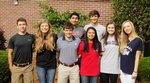 Pictured are (front) Billy Calcutt, Morgan Jones, Jeremy Ledger, Louise Quillope, Mary Martin Shealy, Ashley Ansley; (back) Zayd Hasnain, Josh McKie.