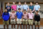 Pictured are (bottom) Scout Luvin, Landon Griffin, Luke Exley, James Wall, Brody Fuller, Carter Smith; (top) Greer Hagerson, Buddy Brady, Chase Ledger, Caleb Law, John Seay, and Matthew Saint. Not pictured are Henry Johnson, Cayce Joyner, and Coach Tim Goodin.