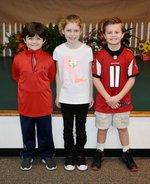 Pictured are Grayson Avant, Savannah Grace Ewing, and Noah Mixon.