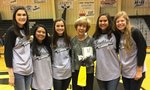 Pictured with yearbook dedication recipient, Mrs. Peggy Roquemore, are senior staff members Rachel Grimes, Editor Louise Quillope, Mary Martin Shealy, Kendall Kirkland, and Morgan Jones.
