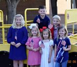 Southland Academy Lower School students prepare for the upcoming Veterans Day celebration.  Pictured are:  Daniel Madden and Dan Williams; Mary-Margaret Waddell, Laura Beth Dixon, Reese Stribling, and Anna Beth Brady.