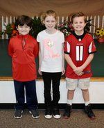 Pictured are Grayson Avant, Savannah Grace Ewing, and Noah Mixon.