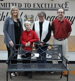 Pictured are Susan Welch; Mr. Welch`s children Reggie Welch and Lynsey Welch Williams; and Mr. Welch`s grandson, Dan Williams.