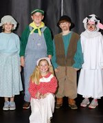 Pictured are: (standing)Tillman Fowler, Brooks Potter, Asa Baldwin, Camille Cochran, (kneeling) Reeves Young