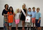 Pictured are Crystal Waddell, Emily Kent, Mary-Margaret Waddell, Miss Presidential Pathways Caroline Carroll, Daniel Madden, Bryant Roland, and Charlie Crisp.