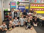 Pictured: Southland Academy K5 students are all smiles as they spend time with the GSW basketball players.