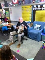 Mr., Randy Saye visits the K5 classes.
