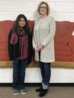 Pictured are STAR Student Anjum Alam and Mrs. Patty Webb, STAR Teacher